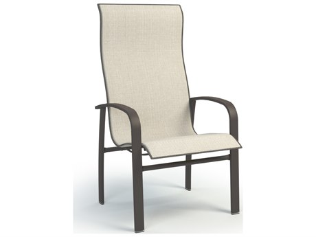 Homecrest Harbor Aluminum Sling High Back Dining Arm Chair