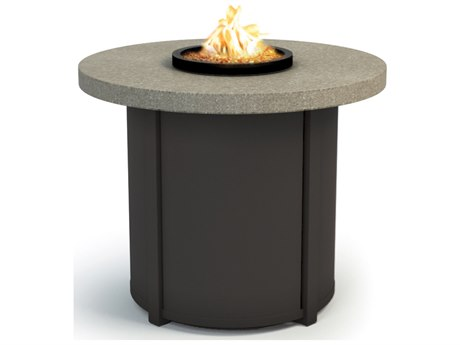 Homecrest Stonegate Aluminum 30 Round Chat Fire Pit Table