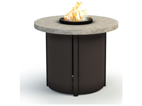 Homecrest Slate Aluminum 30 Round Chat Fire Pit Table