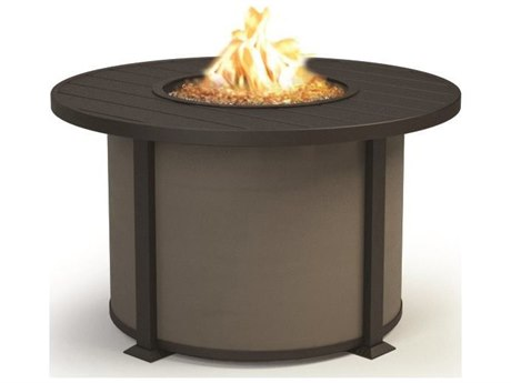 Homecrest Breeze Aluminum 36''Wide Round Chat Fire Pit Table