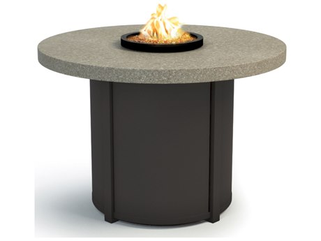 Homecrest Stonegate Aluminum 36 Round Chat Fire Pit Table