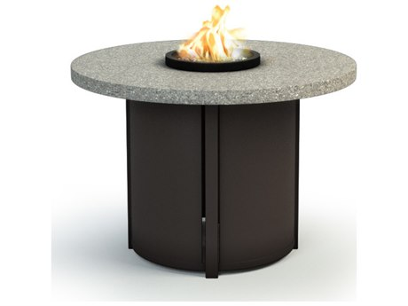Homecrest Shadow Rock Aluminum 36 Round Chat Fire Pit Table
