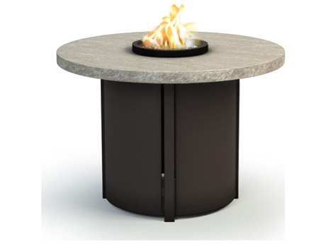 Homecrest Slate Aluminum 36 Round Chat Fire Pit Table