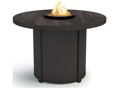 Homecrest Timber Aluminum 36 Round Chat Fire Pit Table