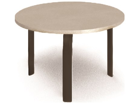 Homecrest Shadow Rock Aluminum 24 Round Stone Top End Table