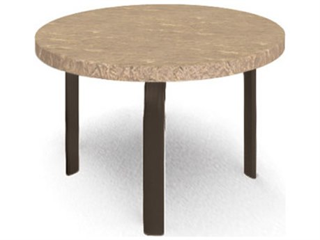 Homecrest Sandstone Steel 24 Round End Table