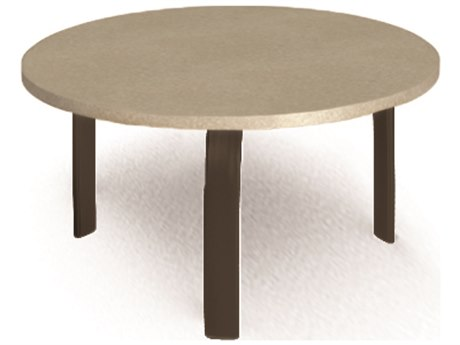 Homecrest Stonegate Aluminum 24 Round Side Table