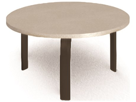 Homecrest Shadow Rock Aluminum 24 Round Stone Top Side Table