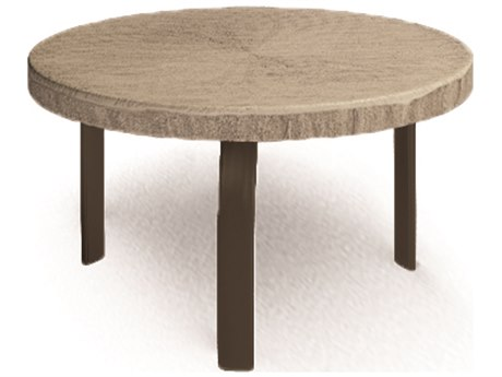 Homecrest Slate Aluminum 24 Round Side Table