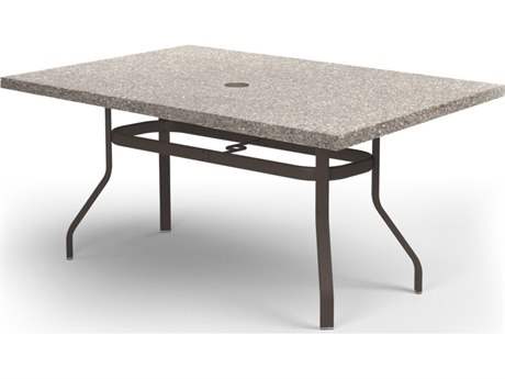 Homecrest Shadow Rock 62''W x 42''D Rectangular Counter Table with Umbrella Hole