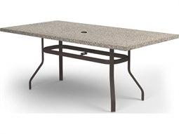 Stonegate Aluminum 84 x 42 Rectangular Balcony Table with Umbrella Hole