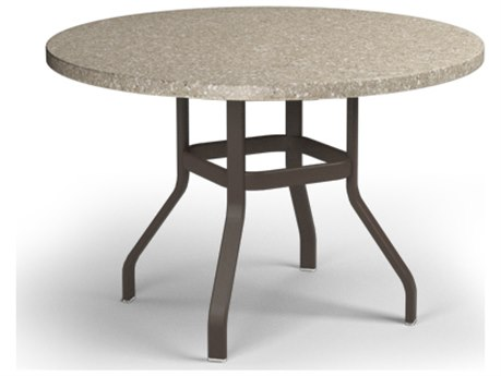 Homecrest Stonegate Aluminum 42 Round Balcony Table