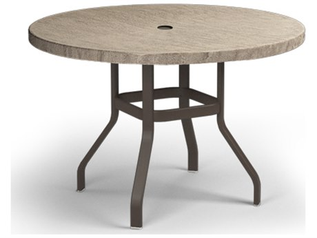 Homecrest Slate Aluminum 42 Round Balcony Table