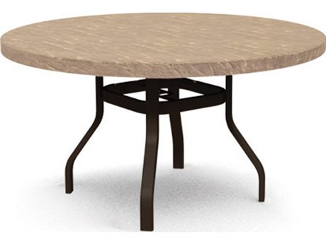 Homecrest Sandstone Steel 42 Round Balcony Table HC3742RBSSNU