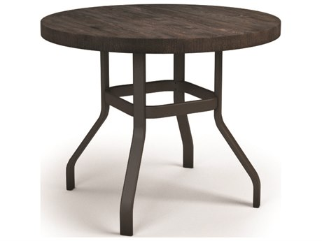Homecrest Timber Aluminum 42 Round Balcony Table