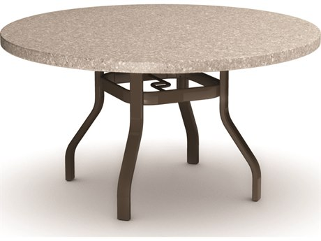 Homecrest Shadow Rock Aluminum 42 Round Dining Table