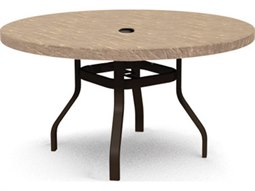 Sandstone Steel 42 Round Dining Table with Umbrella Hole