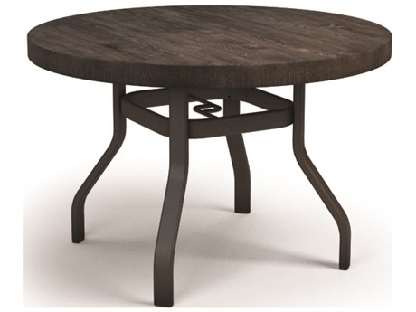 Homecrest Timber Aluminum 42 Round Dining Table with