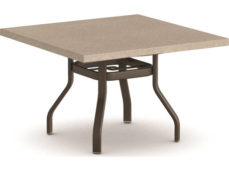 Homecrest Stonegate Aluminum 42 Square Dining Table