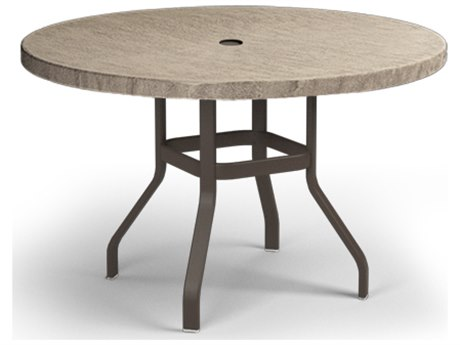 48 Round Balcony Table with Umbrella Hole