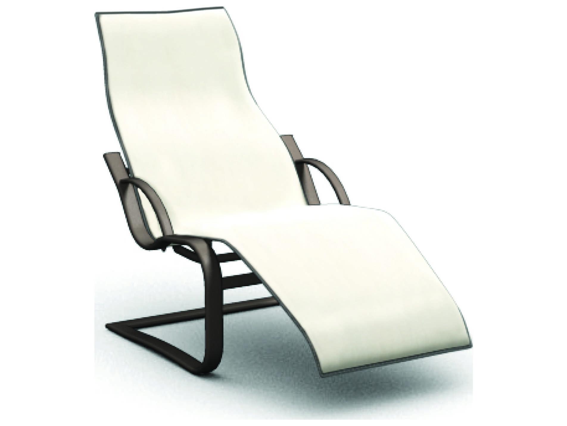 Homecrest lana sling aluminum spring base chaise 44500 for Chaise aluminium