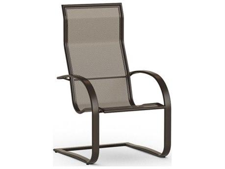 Homecrest Lana Sling Aluminum Spring Base Dining Chair Mesh