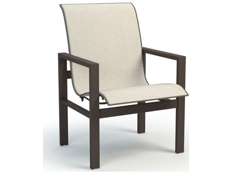 Homecrest Sutton Sling Aluminum Low Back Dining Arm Chair