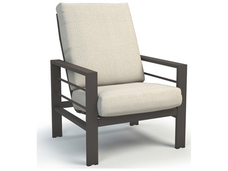 Homecrest Sutton Cushion Aluminum High Back Chat Chair