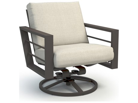 Homecrest Sutton Cushion Aluminum Low Back Swivel Rocker Chat Chair