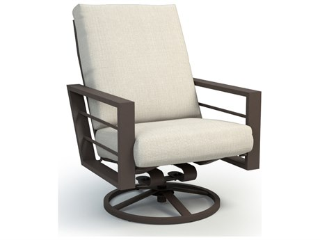 Homecrest Sutton Cushion Aluminum High Back Swivel Rocker Chat Chair