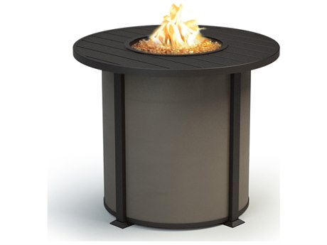 Homecrest Breeze Aluminum 42''Wide Round Counter Fire Pit Table