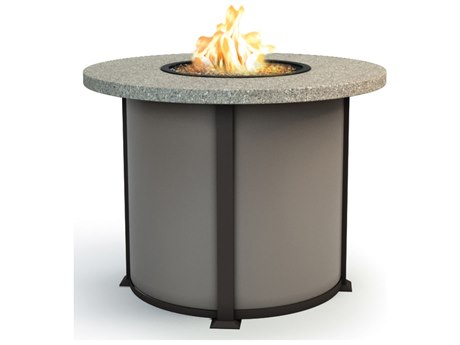 Homecrest Stonegate Series Aluminum 42 Round Balcony Fire Pit Table