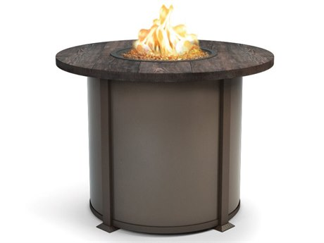 Homecrest Timber Aluminum 42 Round Balcony Fire Table