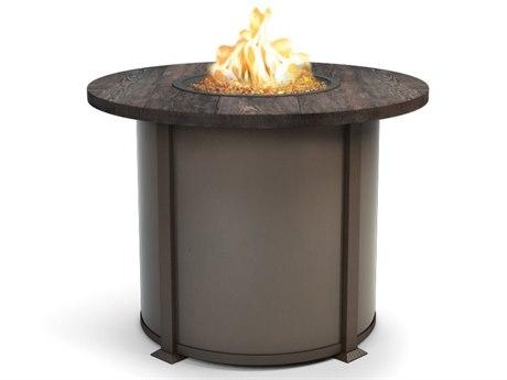 Homecrest Timber Aluminum 42 Round Balcony Fire Table HC4642BTM