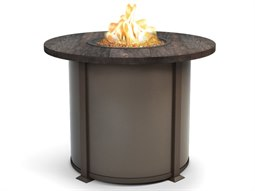 Timber Resin 42 Round Balcony Fire Table