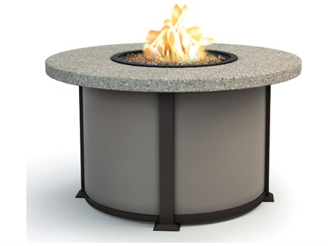 Homecrest Shadow Rock Aluminum 42 Round Chat Fire Pit Table