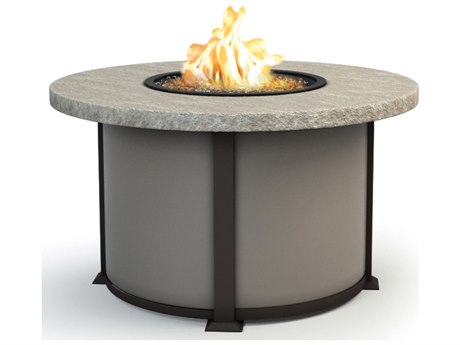 Homecrest Slate Aluminum 42 Round Chat Fire Pit Table