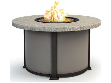 Homecrest Slate Aluminum 42 Round Chat Fire Pit Table HC4642CSL