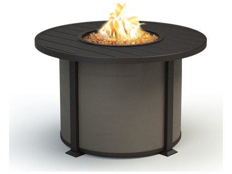 Homecrest Breeze Aluminum 42''Wide Round Dining Height Fire Fit Table