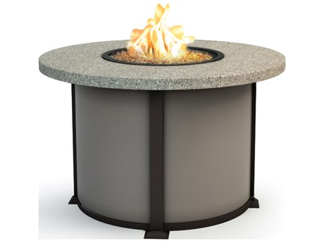 Homecrest Stonegate Aluminum 42 Round Dining Fire Pit Table