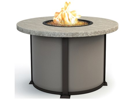 Homecrest Slate Aluminum 42 Round Dining Fire Pit Table