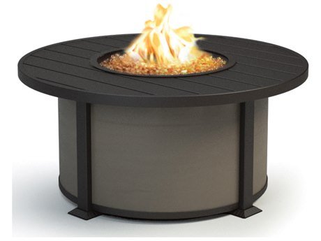 Homecrest Breeze Aluminum 42''Wide Round Coffee Height Fire Pit Table