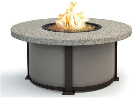Homecrest Shadow Rock Aluminum 42 Round Coffee Fire Pit Table