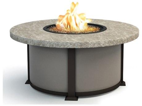 Homecrest Sandstone Aluminum 42 Round Coffee Fire Pit Table