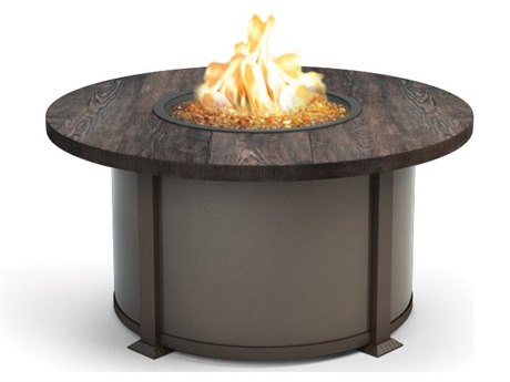 Homecrest Timber Aluminum 42 Round Coffee Fire Pit Table HC4642LTM