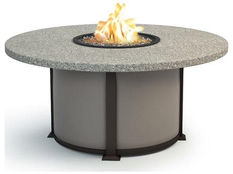 Homecrest Shadow Rock Aluminum 48 Round Chat Fire Pit Table HC4648CSH