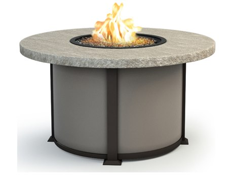 Homecrest Slate Aluminum 48 Round Chat Fire Pit Table