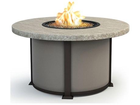 Homecrest Slate Aluminum 48 Round Chat Fire Pit Table HC4648CSL