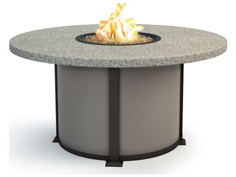 Homecrest Shadow Rock Aluminum 48 Round Dining Fire Table Table