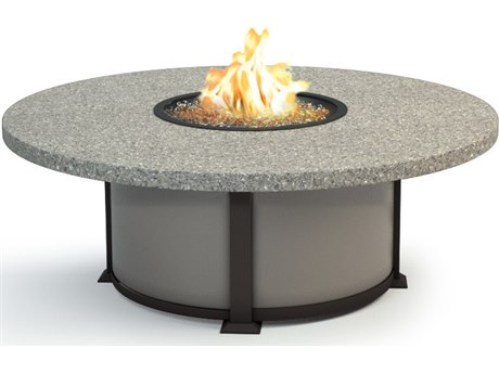 Homecrest Shadow Rock Aluminum 48 Round Coffee Fire Pit Table